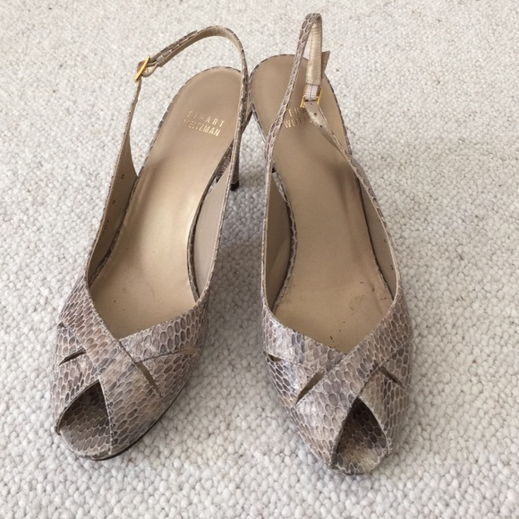 for sale for sale wholesale price sale online Stuart Weitzman Slingback Peep-Toe Pumps finishline cheap price purchase cheap price 8eyM9mgsYv