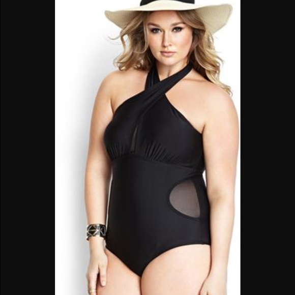 71b89d8dd0d9 forever 21 plus size one piece swimsuit never worn