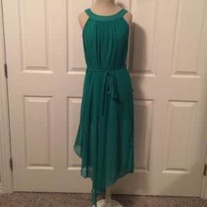 Emerald green dress