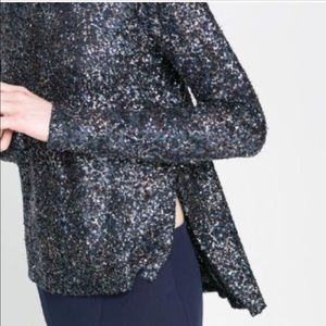 Zara collection multi sequin top
