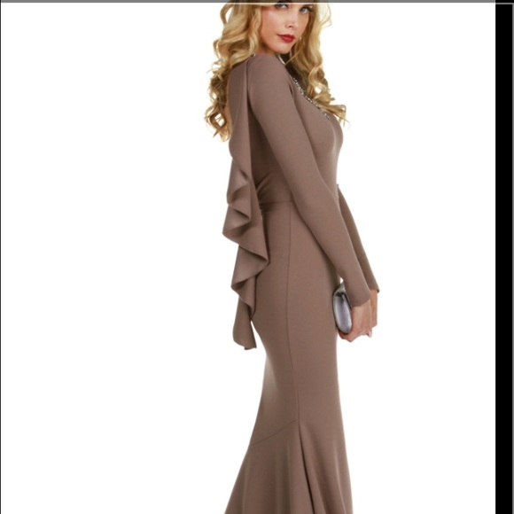 66% off WINDSOR Dresses & Skirts - Brown long sleeve long dress ...