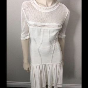 Herve Leger Haylynn White Bandage Dress