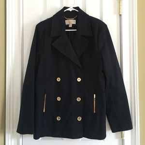 Beautiful Navy Blue Blazer with Gold Hardware