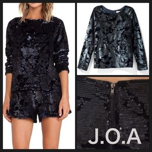 ❤️ LAST DAY❤Gorgeous J.O.A. Sequin Velvet Top New