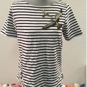 J. Crew Tops - Striped and sequined tee from j.crew