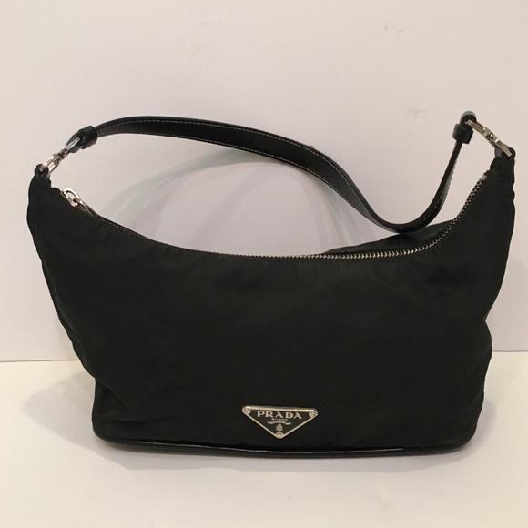 d9f58ddd1d9a Authentic Prada black hobo nylon bag like new. M_56ddcc53522b45153a0061f2