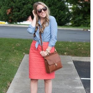 💕 HOST PICK! 💕 Eyelet pencil skirt from j.crew