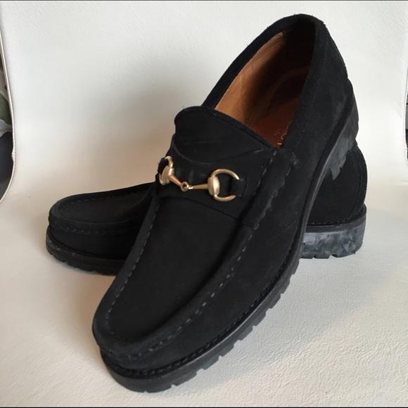 Gucci Shoes Vintage Black Suede Loafers Poshmark