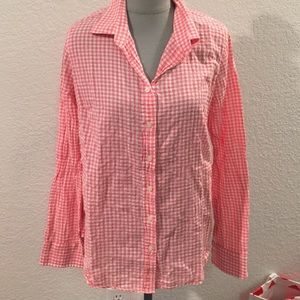 Pink gingham button down