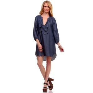 Dresses & Skirts - [Boutique]chambray tassel dress