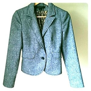 EXPRESS Gray Tweed Wool Blazer Size 2
