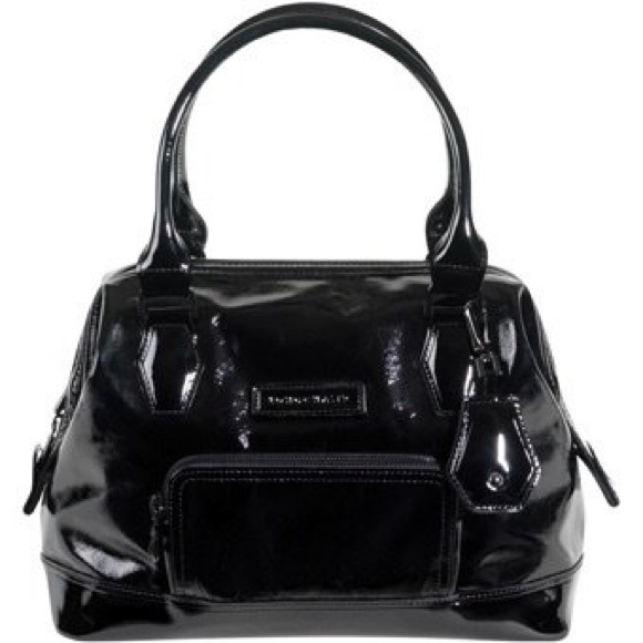 Longchamp Bags Black Patent Leather Legende Handbag