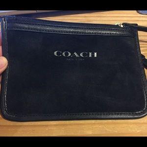 Authentic Coach suede wristlet