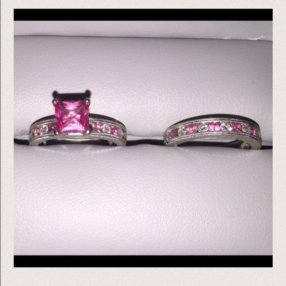 Shane Co Jewelry | Pink Sapphire Wedding Ring Set | Poshmark