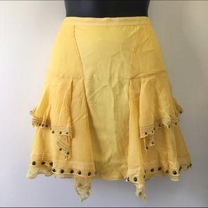 Charlotte Ronson Dresses & Skirts - 🎀2 for $15🎉HP🎉 Yellow bohemian mini skirt