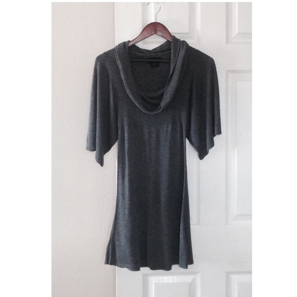 It's Our Time Tops - 🌟❌SOLD❌ Chic Charcoal Boho Tunic