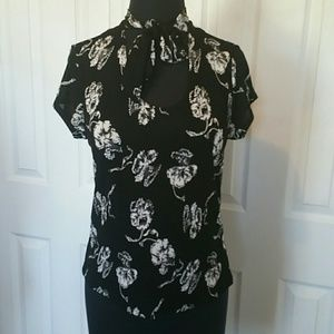 Sexy vintage bowtie chic blouse