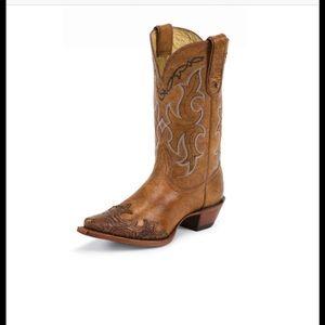 Tony Lama Shoes - Tan Santa Fe western boots