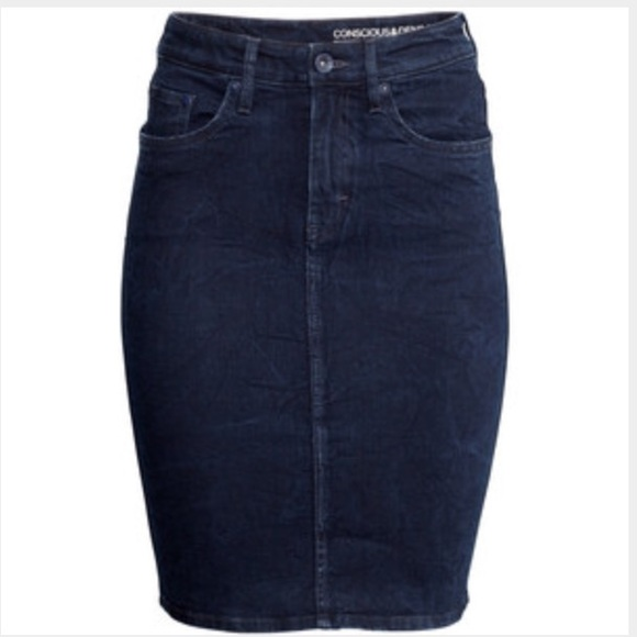 h m h m denim pencil skirt conscious collection from