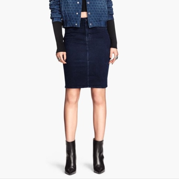 Hu0026M - Hu0026M denim pencil skirt Conscious collection from ...
