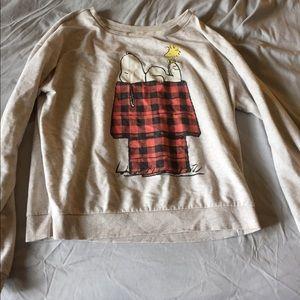 Tan snoopy sweater