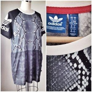 d5b83935ab7 Adidas Dresses | Snake Print Tshirt Dress | Poshmark