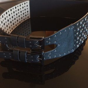 Fina Firenze Accessories - Fina Firenze Wide Studded Waist Belt