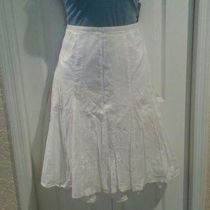 White embroidered skirt Lane Bryant 18