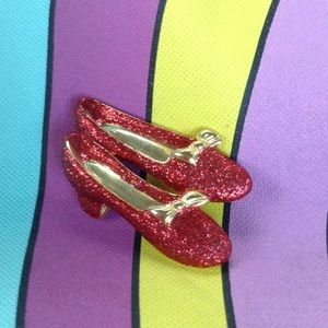 Dorothy Red Glitter Shoes Wizard Oz