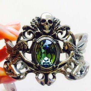 Alchemy Jewelry - La Fée Verte - Absinthe Fairy Swarovski Cuff