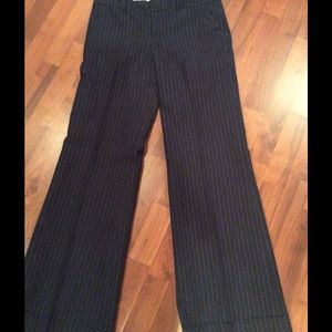 Anthropologie pin striped trouser jeans