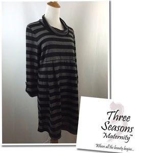 Three Seasons Maternity  Dresses & Skirts - NWT Three Seasons Maternity Wear Cowl Neck Dress