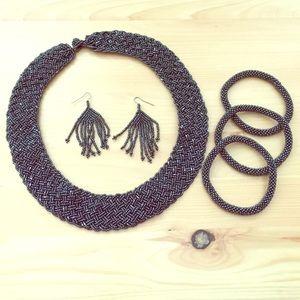 Beaded Jewelry Set