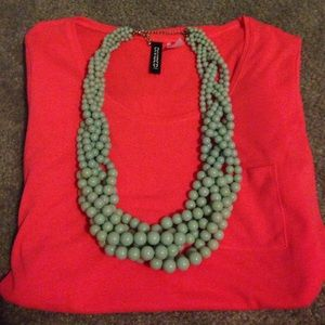 H&M Red/Pink Hi-Lo Tee Size 8