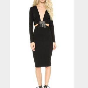 Bec & Bridge Dresses & Skirts - Bec+Bridge Camino Long Sleeve Dress w Leather
