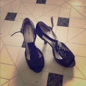 Exhilaration Shoes - Black heels