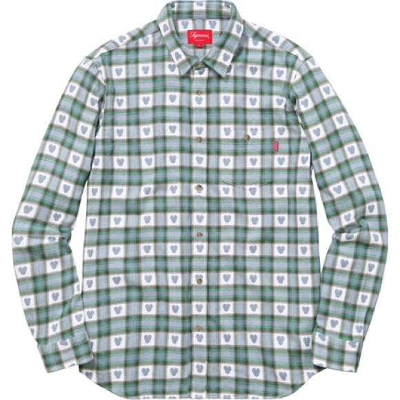 SUPREME SHIRT | HOODED FLANNEL | S/S 2014 | SS14H15-RED