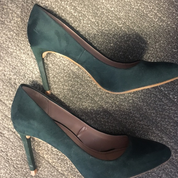 Zara Shoes | Zara Spruce Green Suede