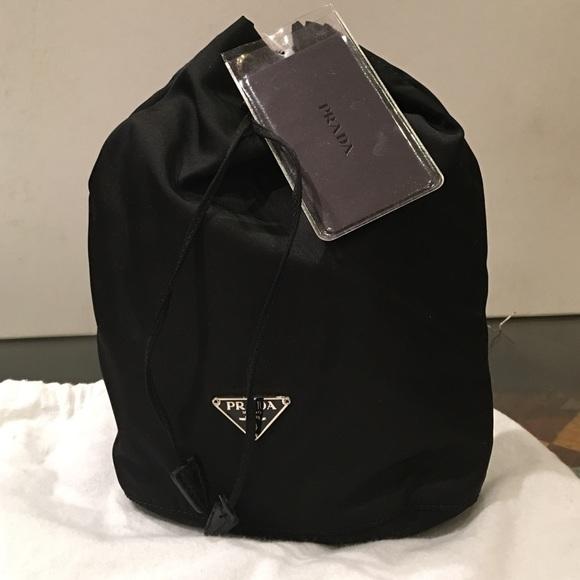 b2200ae367b922 Prada Bags | Drawstring Makeup Pouch Black | Poshmark
