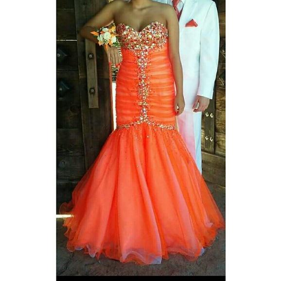 Jovani Dresses Neon Orange Prom Dress Poshmark