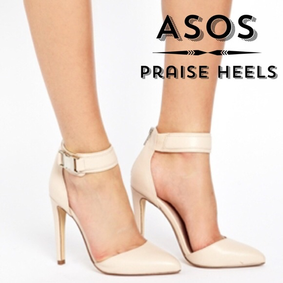 255b730c8942 ASOS Shoes - Pink Asos PRAISE Ankle Strap Pointed Toe Heels