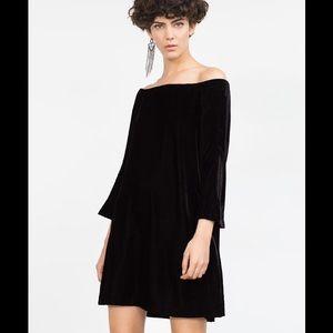 Zara Dresses & Skirts - ZARA VELVET DRESS!!! NEW