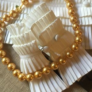 STAUER Large Golden Pearl Necklace
