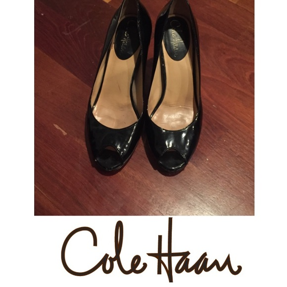 f60916c10d893 Cole Haan Shoes   Open Toe Patent Leather Nike Air Heels   Poshmark