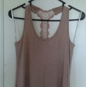 Dresses & Skirts - NWOT Nude pink maxi dress with lace racer back