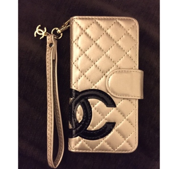 new product 61502 547eb ✨iPhone 6 Plus Wallet Case Leather Chanel✨On Hold NWT