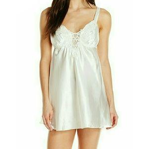 Lingerie Chemise Embroidered Bridal Slip White
