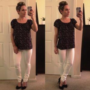 Ann Taylor Loft Tops - ❤ | gorgeous watercolor pattern blouse |