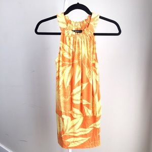 Like NEW Express stretchy tropical mini dress