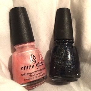 2 unused China Glaze nail polishes
